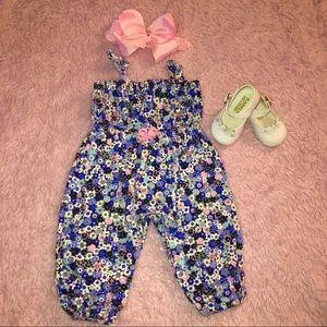 Other - Baby Girl Blue/Pink Flower Jumper